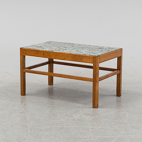 A marble top swedish modern coffee table, 1940's/50's.