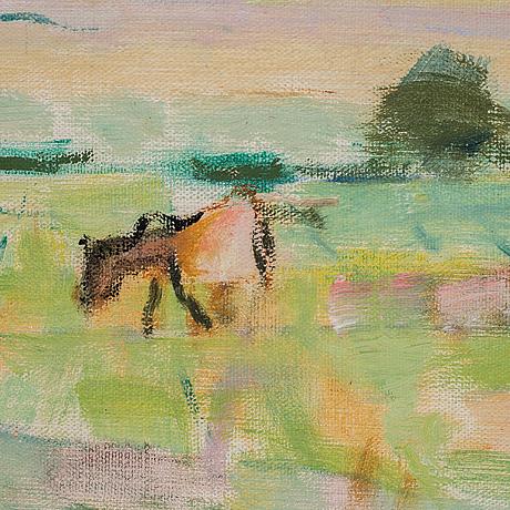Ragnar sandberg, oil on canvas, signed.