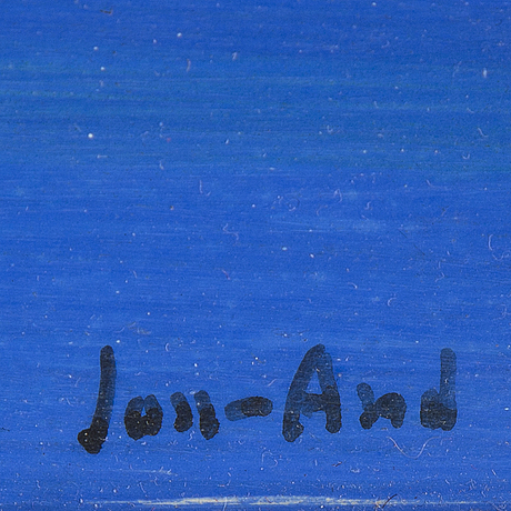 John jon-and, oil on panel, signed.