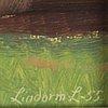 Lindorm liljefors, två stycken olja på pannå, signerade och daterade -55 samt -56.