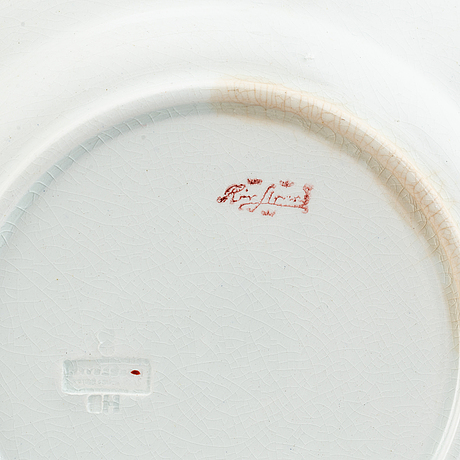 A 7 pcs crayfish service designed by alf wallander, rörstrand.