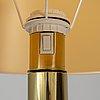 A brass floor light, 1970's.