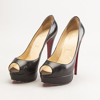 A pair of Louboutin leather pumps size 40.