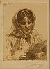 Anders zorn, etching, 1913, signed in pencil.