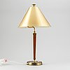 A brass mid 20th century table lamp from falkenbergs belysning.