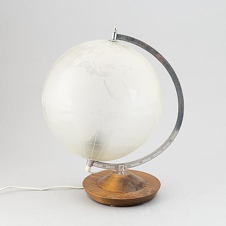 Flygsfors glasbruk, a glass terrestial globe, sweden, 1950's.