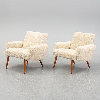 A fair of Danish 1950's easy chairs.