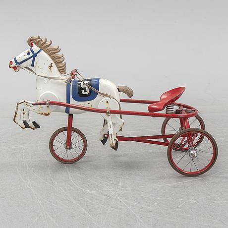 Leksakshäst/trampbil, 1900-talets mitt.