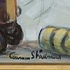 Gunnar stålbrand, oil on panel, signed.