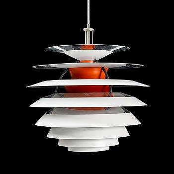 Poul Henningsen, a 'Kontrast' pendant light, Louis Poulsen, Denmark.