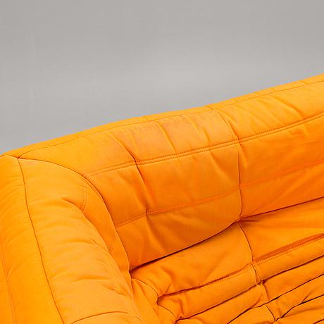 "A sofa ""togo"" by michel ducaroy for ligne roset."