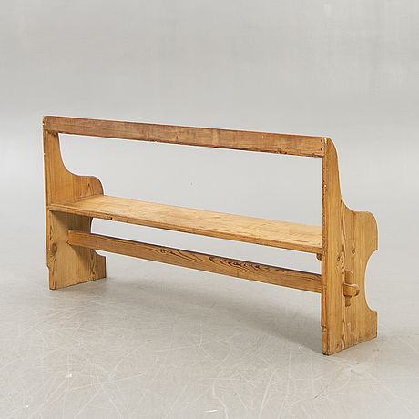 A pine mid 1900s bench.