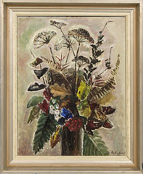 Agda Holst, oil on panel signed and dated 1951.