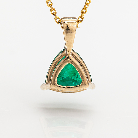 Kaulakoru, 14k ja 18k kultaa, smaragdi n. 1.78 ct.