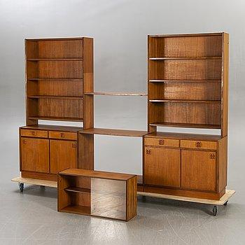 """Bookcase, """"Comet"""", teak, Bogeryds möbler, 1960s-70s."""