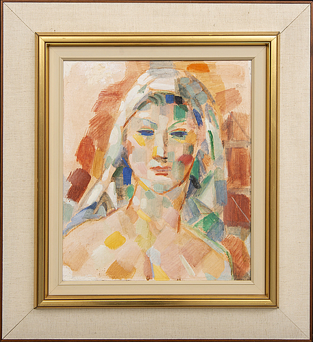 Jules schyl, oil on canvas signed and dated 1955.