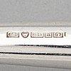 Slev, silver och teak, auran kultaseppä, åbo 1960.
