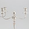 A pair of english silver plated copper candelabra, second half of the 19th century.