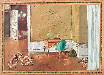 """Ernst Billgren, screenprint on canvas, from the IKEA Art Event-series, September 2006. """"Premiär"""", edition of 1000."""