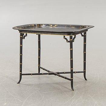 A papier maché side table 19th/20th century.