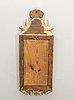A swedish gilded signed gustavian mirror by cg fyrwald.