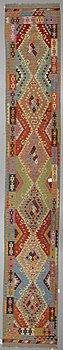 Gallerimatta, Kelim, ca 504,5 x 82 cm.