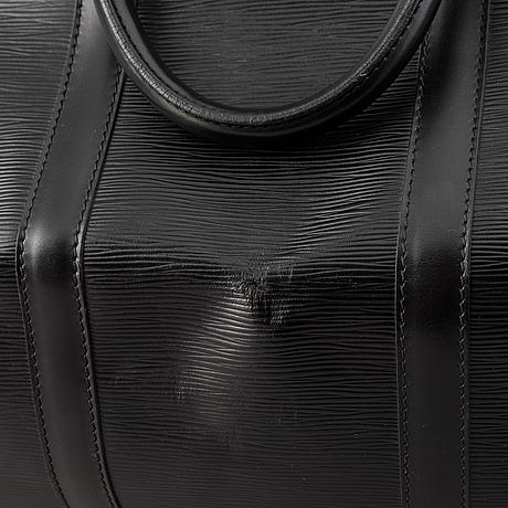 Louis vuitton, a black epi 'keepall 55' weekend bag, 1994.