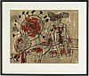 Beverloo corneille, litograph in colours, signed and dated -69, numbered 95/99.
