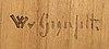 Wilhelm von gegerfelt, pencil on panel, stamp signed.