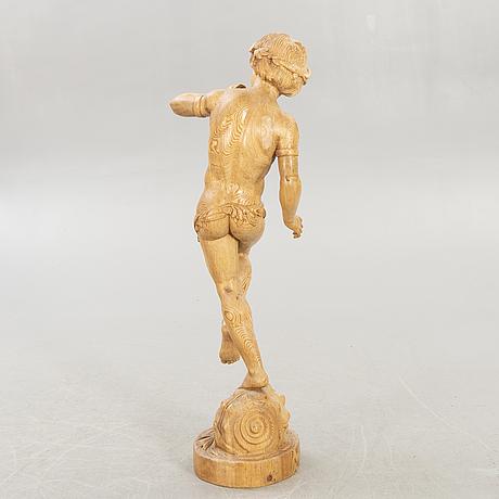 Okänd konstnär 1900-tal , wooden sculpture.