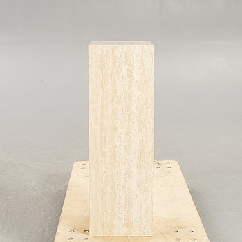 A travertine pedestal second part of the 20th century.