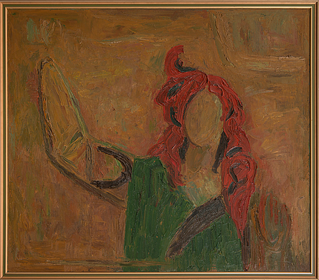 Olavi heino, oil on canvas, signed and dated 1986 a tergo.