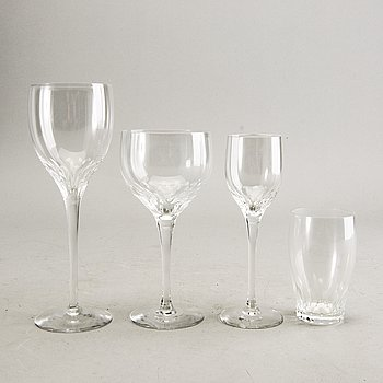 Nils Landberg, a 46 pcs Prelude glass service.