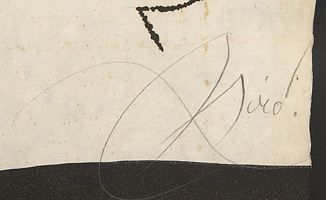 Joan miró, etching and aquatint in colours, 1976, signed in pencil xxii/l.