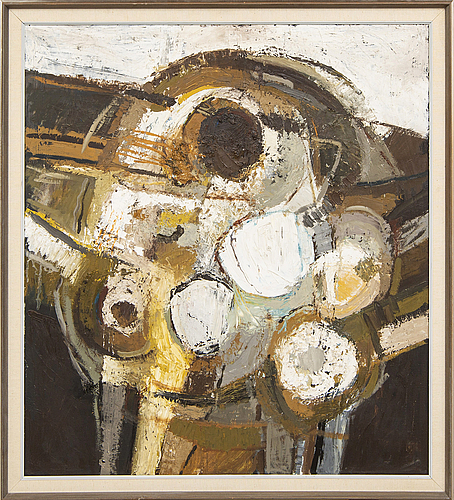 Poul janus ipsen, oil on canvas signed and dated 1963.