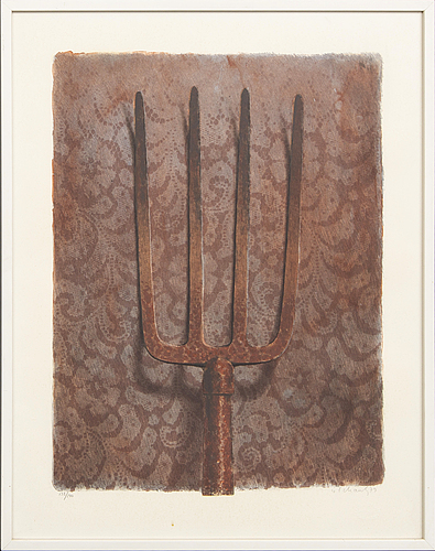 Philip von schantz, lithograph in colours signed dated and numbered 79 132/140.