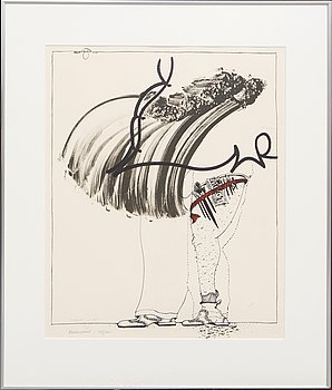 Carl Fredrik Reuterswärd, , lithograph in colours signed and numbered 142/200.