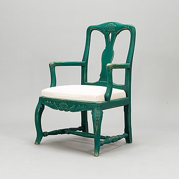 A rococo style armchair, first half of the 20th century.