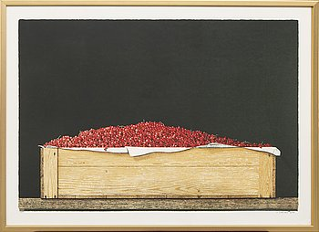 Philip von Schantz, färglitografi, signerad -80, P.T. (provtryck).