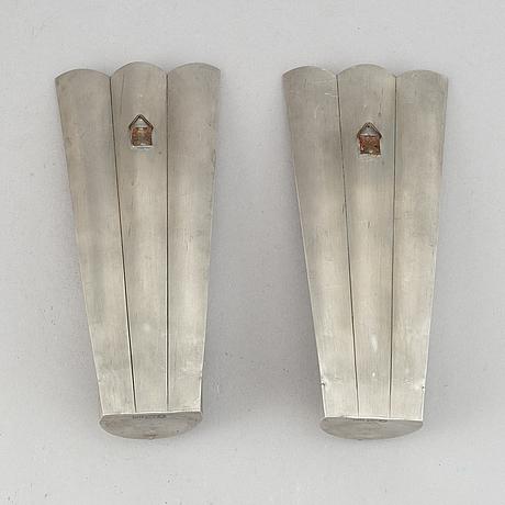 A pair of petwr wall sconces, herman bergman ab, stockholm, 1930.
