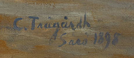 Carl trägårdh, oil on canvas signed and dated särö 1895.