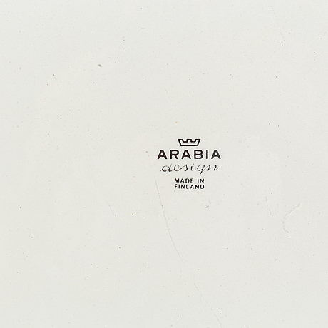 Bricka, porslin, arabia, finland.