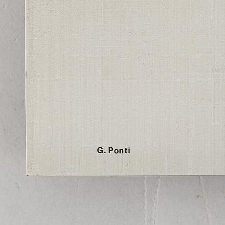 Gio ponti, a wall clock, depini, italy.
