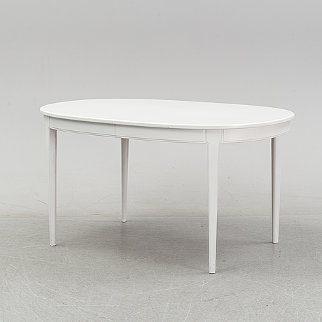 Carl malmsten, a dining table and a set of six chairs, 'herrgården' for bodafors.
