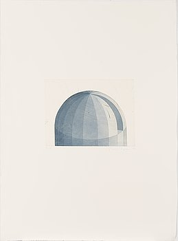 Päivi Lempinen, dry-point and aquatint, signed and dated -88, numbered 36/50.