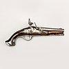 Pistol flintlock, probably belgium / france, 18th century later part.