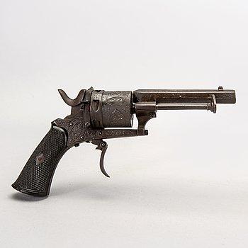 Revolver, type Lefaucheux, Liege Belgien ca 1860.