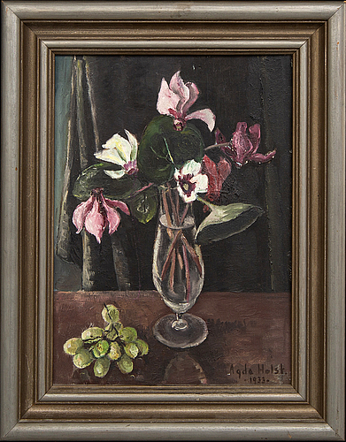 Agda holst, oil on canvas signed and dated 1933.