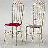 A set of six brass chairs 'chiavari' model, italy.