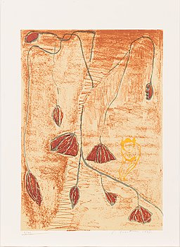 Leena Luostarinen, lithograph, signed and dated 1995, numbered 2/40.